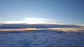 Horizon de coucher du soleil posé photo stock