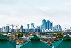 Horizon de crépuscule d'Almaty Photographie stock libre de droits