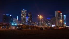 Horizon de Dallas la nuit photo stock