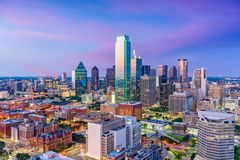 Horizon de Dallas le Texas Images stock