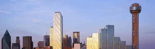 Horizon de Dallas, le Texas Image libre de droits