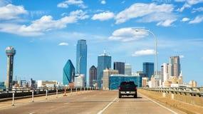 Horizon de Dallas le Texas images libres de droits