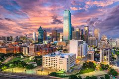 Horizon de Dallas le Texas Photographie stock