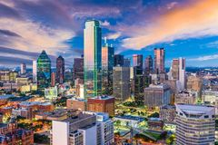 Horizon de Dallas le Texas photos stock