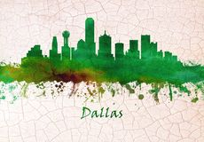 Horizon de Dallas le Texas illustration libre de droits