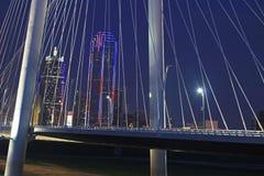 Horizon de Dallas sur le 4ème juillet Image libre de droits