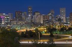 Horizon de Denver Photos libres de droits