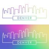 Horizon de Denver Style linéaire coloré illustration stock
