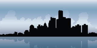 Horizon de Detroit illustration stock