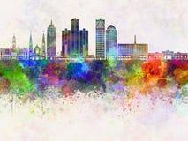 Horizon de Detroit dans le wb illustration de vecteur