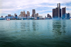 Horizon de Detroit de chemin d'air de Red Bull Photo stock