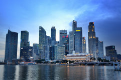 Horizon de district des affaires de Singapour Image stock