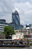 Horizon de district des affaires de ville de Londres Photos libres de droits
