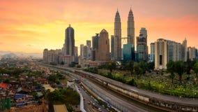 Horizon de docker de Kuala Images stock