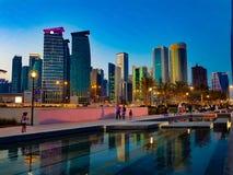 Horizon de Doha, Qatar image libre de droits