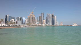 Horizon de Doha, Qatar Images stock