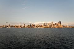 Horizon de Dowtown Seattle Photos stock