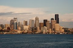 Horizon de Dowtown Seattle Images libres de droits