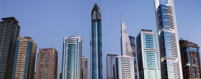Horizon de Dubaï Photos libres de droits