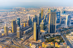 Horizon de Dubaï au canard, EAU Photos libres de droits