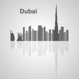 Horizon de Dubaï pour votre conception images stock