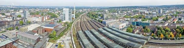 Horizon de Duisbourg, Allemagne Image stock