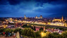 Horizon de Florence Images libres de droits