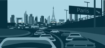 Horizon de Frances de Paris illustration stock