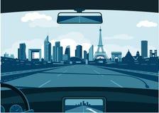 Horizon de Frances de Paris illustration libre de droits
