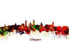 Horizon de Glasgow Watercolor Illustration Stock