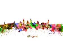 Horizon de Glasgow Watercolor Illustration de Vecteur