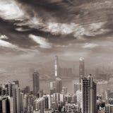 Horizon de Hong Kong Photos libres de droits