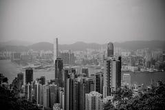 Horizon de Hong Kong Photographie stock