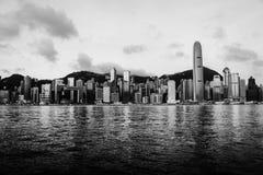 Horizon de Hong Kong pendant le matin Image libre de droits