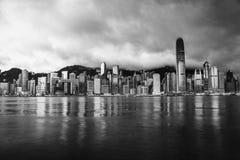 Horizon de Hong Kong pendant le matin Image stock
