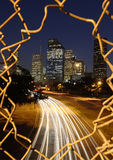 Horizon de Houston la nuit Images libres de droits