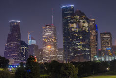 Horizon de Houston, le Texas Etats-Unis Photo stock