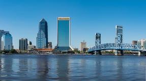 Horizon de Jacksonville un jour d'été Images libres de droits