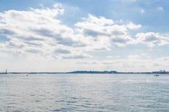 Horizon de Jersey City de Liberty State Park photographie stock