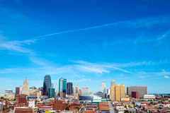 Horizon de Kansas City, Missouri Photographie stock