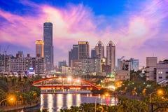 Horizon de Kaohsiung, Taïwan Photo stock