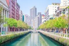 Horizon de Kaohsiung, Taiwan Photographie stock