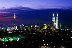 Horizon de Kuala Lumpur Image libre de droits