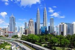 Horizon de Kuala Lumpur images libres de droits