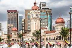 Horizon de Kuala Lumpur autour de place de Merdeka Photos stock
