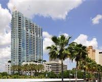 Horizon de la façade d'une rivière de Tampa Images stock