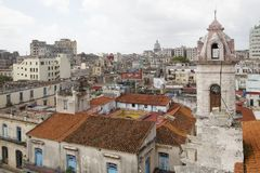 Horizon de La Havane, Cuba Photo stock