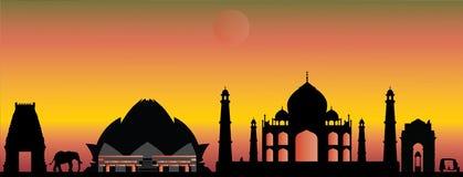 Horizon de la Nouvelle Delhi d'Inde illustration de vecteur