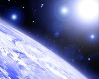 Horizon de la terre illustration stock