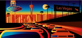 Horizon de Las Vegas illustration libre de droits